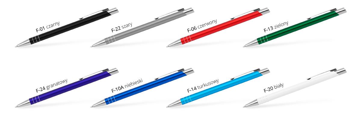 długopisy metalowe z logo FIT