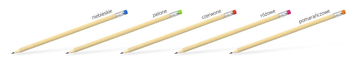 Ołówki z nadrukiem, kolorystyka
